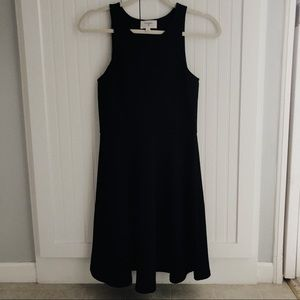 Fitted, navy, a-line dress. Size Small.